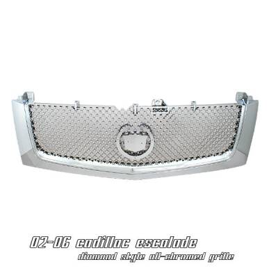 Grilles - Custom Fit Grilles - OptionRacing - Cadillac Escalade Option Racing Diamond Grille - 65-14103