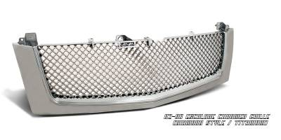 Grilles - Custom Fit Grilles - OptionRacing - Cadillac Escalade Option Racing Diamond Grille - 65-14104