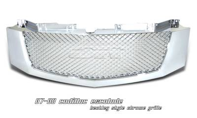 Grilles - Custom Fit Grilles - OptionRacing - Cadillac Escalade Option Racing Diamond Grille - 65-14105