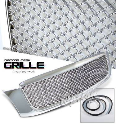 Grilles - Custom Fit Grilles - OptionRacing - Cadillac DeVille Option Racing Diamond Grille - 65-14235