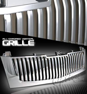 Grilles - Custom Fit Grilles - OptionRacing - Cadillac Escalade Option Racing Vertical Grille - 65-14236