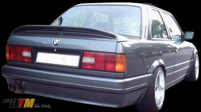 3 Series 4Dr - Rear Bumper - DTM Fiberwerkz - BMW 3 Series DTM Fiberwerkz Mtech II Style Rear Bumper - E30-MTECH-II