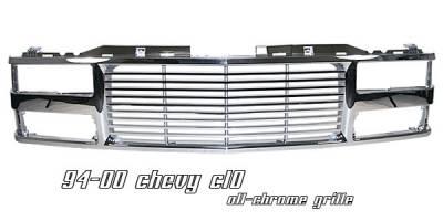 Grilles - Custom Fit Grilles - OptionRacing - Chevrolet C10 Option Racing Billet Grille - 65-15110