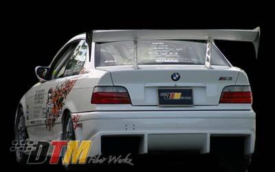 3 Series 4Dr - Rear Bumper - DTM Fiberwerkz - BMW 3 Series DTM Fiberwerkz BOMX Style Rear Bumper with Diffuser - E36BOMXRear