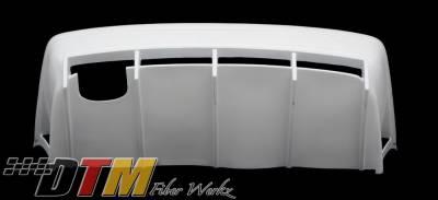 3 Series 4Dr - Rear Bumper - DTM Fiberwerkz - BMW 3 Series DTM Fiberwerkz GTR-S Style Rear Bumper with Diffuser - E36GTR-Srear