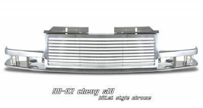Grilles - Custom Fit Grilles - OptionRacing - Chevrolet S10 Option Racing Billet Grille - 65-15115