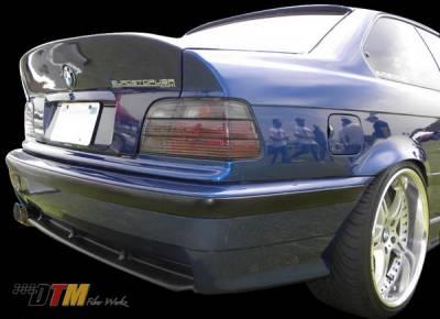 3 Series 4Dr - Rear Bumper - DTM Fiberwerkz - BMW 3 Series DTM Fiberwerkz OEM M3 Style Rear Bumper - E36-OEM-M3-S