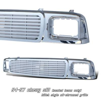 Grilles - Custom Fit Grilles - OptionRacing - GMC Sonoma Option Racing Billet Grille - 65-15116