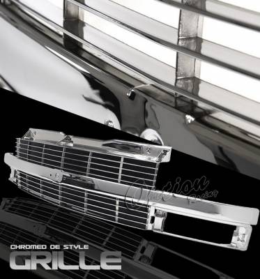 Grilles - Custom Fit Grilles - OptionRacing - Chevrolet Astro Option Racing Chrome Grille - OEM Style - 65-15339