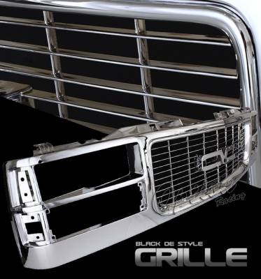 Grilles - Custom Fit Grilles - OptionRacing - GMC CK Truck Option Racing Chrome Grille - OEM Style - 65-15341
