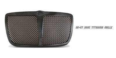 Grilles - Custom Fit Grilles - OptionRacing - Chrysler 300 Option Racing Titanium Grille - 65-16137