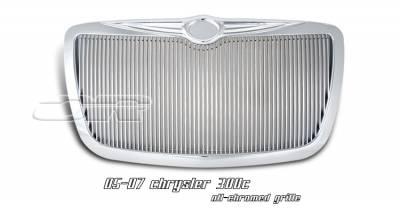 Grilles - Custom Fit Grilles - OptionRacing - Chrysler 300 Option Racing Vertical Grille - 65-16138