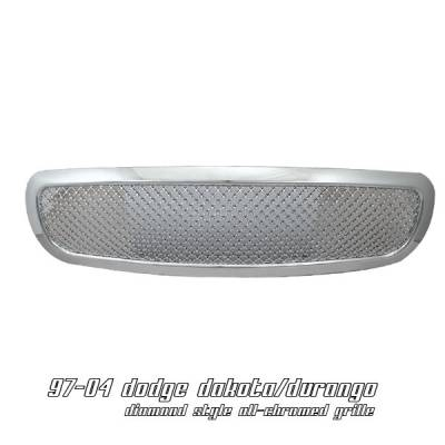 Grilles - Custom Fit Grilles - OptionRacing - Dodge Dakota Option Racing Diamond Grille - 65-17148
