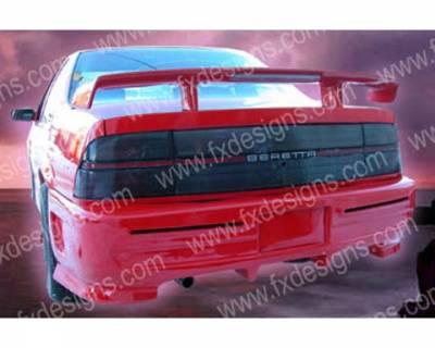 Beretta - Rear Bumper - FX Designs - Chevrolet Beretta FX Design Xtreme Style Rear Bumper Cover - FX-937