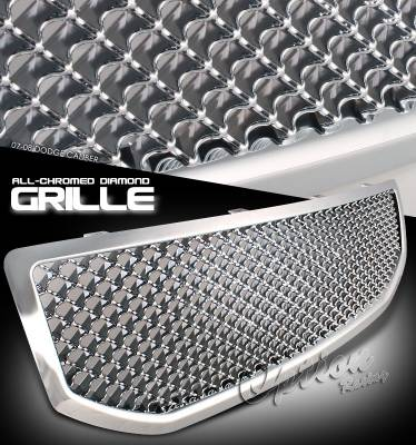 Grilles - Custom Fit Grilles - OptionRacing - Dodge Caliber Option Racing Diamond Grille - 65-17239