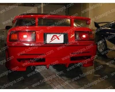 Supra - Rear Bumper - FX Designs - Toyota Supra FX Design Xtreme Style Rear Bumper Cover - FX-986