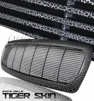 Grilles - Custom Fit Grilles - OptionRacing - Dodge Dakota Option Racing Chrome Grille - Special Painted - Horizontal Style - Special S02 - 65-17357