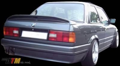 3 Series 4Dr - Rear Bumper - DTM Fiberwerkz - BMW 3 Series DTM Fiberwerkz M-Tech II Style Rear Bumper - E30 Mtech II