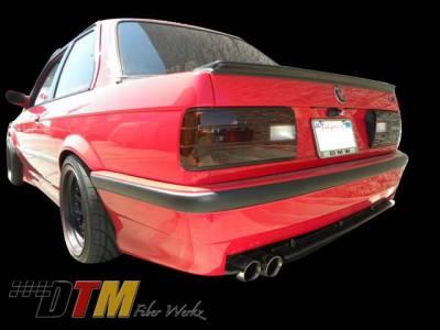 3 Series 4Dr - Rear Bumper - DTM Fiberwerkz - BMW 3 Series DTM Fiberwerkz E36 M3 Style Rear Bumper - E30 E36 M3