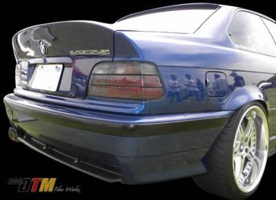 3 Series 4Dr - Rear Bumper - DTM Fiberwerkz - BMW 3 Series DTM Fiberwerkz OEM M3 Style Rear Bumper - E36 OEM M3 S