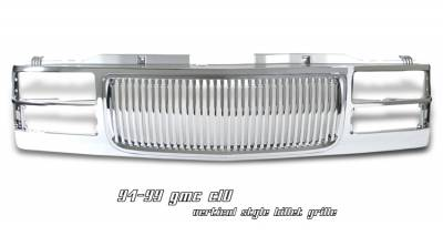 Grilles - Custom Fit Grilles - OptionRacing - GMC CK Truck Option Racing Vertical Grille - 65-19193