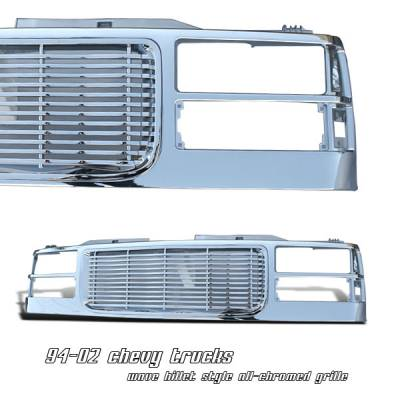 Grilles - Custom Fit Grilles - OptionRacing - GMC CK Truck Option Racing Wave Billet Grille - 65-19194