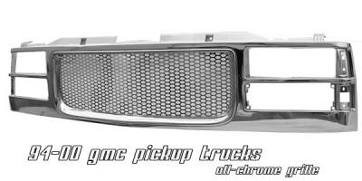 Grilles - Custom Fit Grilles - OptionRacing - GMC CK Truck Option Racing Punch Hole Grille - 65-19195