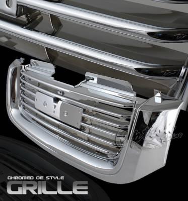 Grilles - Custom Fit Grilles - OptionRacing - GMC Envoy Option Racing Chrome Grille - OEM Style - 65-19343