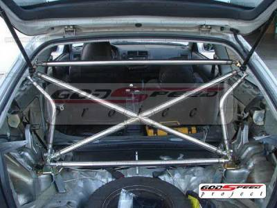 SUV Truck Accessories - Roll Bar Accessories - Godspeed - Honda Civic Godspeed Cross Bar - XB-003