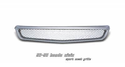 Grilles - Custom Fit Grilles - OptionRacing - Honda Civic Option Racing Mesh Sport Grille - 65-20206