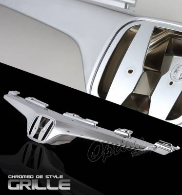Grilles - Custom Fit Grilles - OptionRacing - Honda Accord 2DR Option Racing Chrome Grille - OEM Style - 65-20332