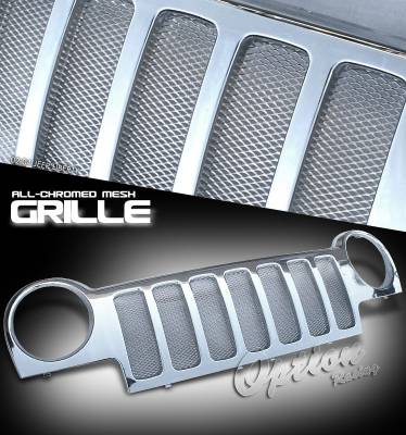 Grilles - Custom Fit Grilles - OptionRacing - Jeep Liberty Option Racing Mesh Sport Grille - 65-26209