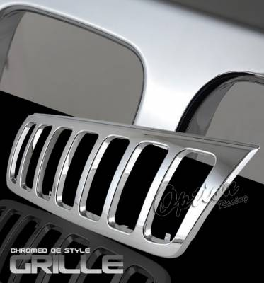 Grilles - Custom Fit Grilles - OptionRacing - Jeep Grand Cherokee Option Racing Chrome Grille - OEM Style - 65-26348