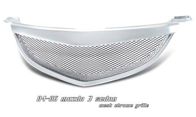 Grilles - Custom Fit Grilles - OptionRacing - Mazda 3 Option Racing Steel Mesh Grille - 65-31212