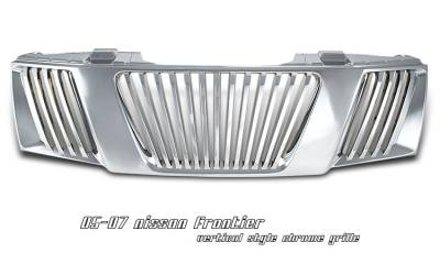 Grilles - Custom Fit Grilles - OptionRacing - Nissan Frontier Option Racing Vertical Grille - 65-36216