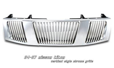 Grilles - Custom Fit Grilles - OptionRacing - Nissan Titan Option Racing Vertical Grille - 65-36217
