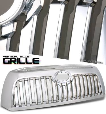 Grilles - Custom Fit Grilles - OptionRacing - Toyota Tundra Option Racing Vertical Grille - 65-44226