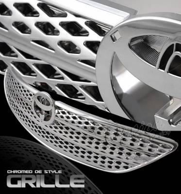 Grilles - Custom Fit Grilles - OptionRacing - Toyota Camry Option Racing Chrome Grille - OEM Style - 65-44334