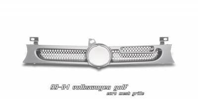 Grilles - Custom Fit Grilles - OptionRacing - Volkswagen Golf Option Racing Mesh Grille - 65-45222