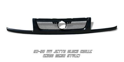 Grilles - Custom Fit Grilles - OptionRacing - Volkswagen Jetta Option Racing Euro Mesh Grille - 65-45224