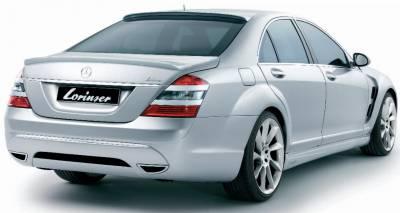S Class - Rear Bumper - Lorinser - Mercedes-Benz S Class Lorinser Exclusive Rear Bumper Spoiler - 488 0221 5302