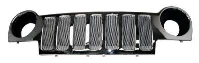 Grilles - Custom Fit Grilles - Pilot - Jeep Liberty Pilot Performance Grille - Mesh Style - 1PC - PFG-7001