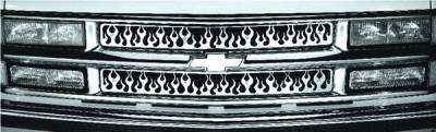 Grilles - Custom Fit Grilles - Pilot - GMC CK Truck Pilot Stainless Steel Flame Grille Insert - Set - SG-141