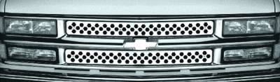 Grilles - Custom Fit Grilles - Pilot - GMC CK Truck Pilot Stainless Steel Punch Grille Insert - Set - SG-161