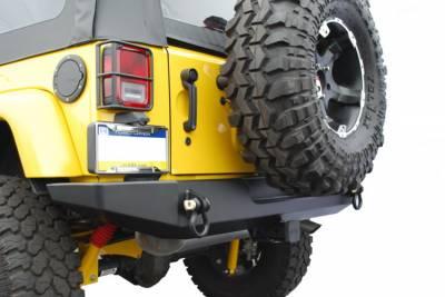 Wrangler - Rear Bumper - Hyline Offroad - Jeep Wrangler Hyline Standard Rear Bumper Assembly - JK-20SRB