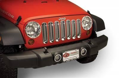 Headlights & Tail Lights - Fog Lights - Putco - Jeep Wrangler Putco Foglight Bezel - 400508