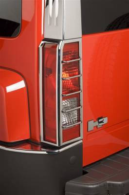 Headlights & Tail Lights - Tail Light Covers - Putco - Hummer H3 Putco Taillight Covers - 400810