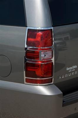 Headlights & Tail Lights - Tail Light Covers - Putco - Chevrolet Tahoe Putco Taillight Covers - 400824