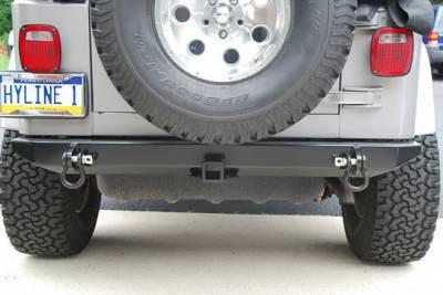 Wrangler - Rear Bumper - Hyline Offroad - Jeep Wrangler Hyline Standard Rear Bumper Assembly - TJ-YJ-20SRB