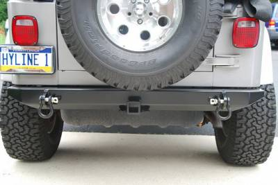 Hyline Offroad - Jeep Wrangler Hyline Standard Rear Bumper Assembly - TJ-YJ-20SRB